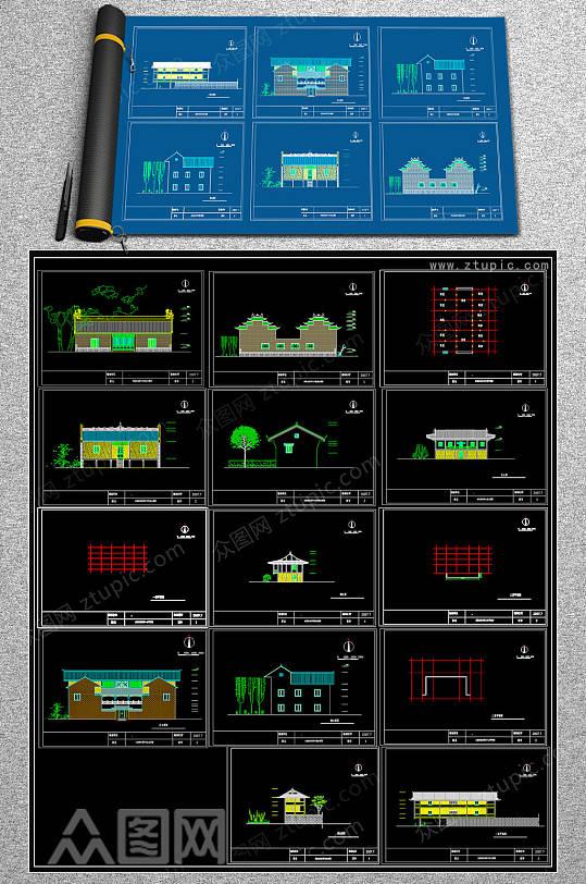 民族房屋CAD平面图-众图网