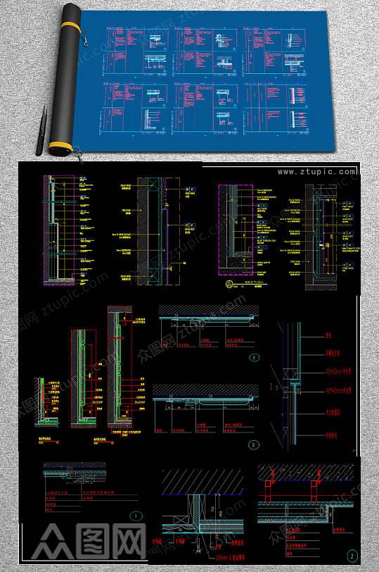 全套硬包CAD模块-众图网