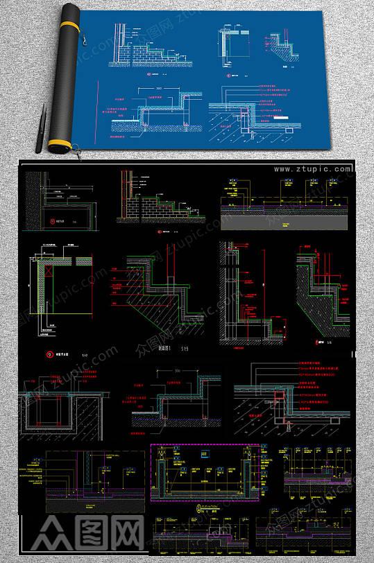 齐全云石CAD全集-众图网