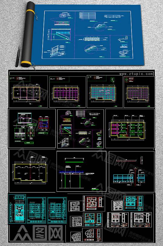 最全博古架CAD图库-众图网