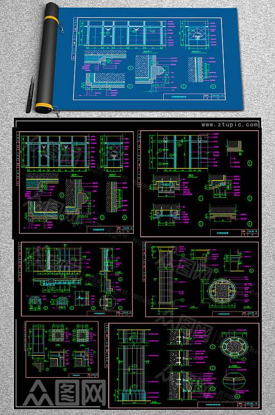 全齐石材CAD素材-众图网