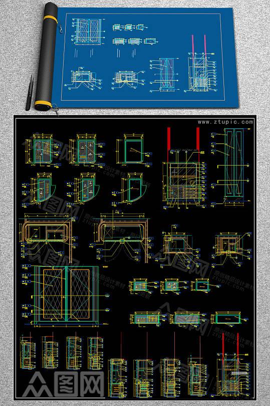 2019柜类CAD大全-众图网