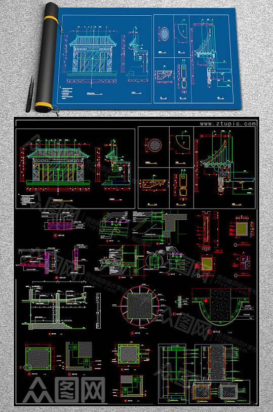 新款门头CAD施工图-众图网