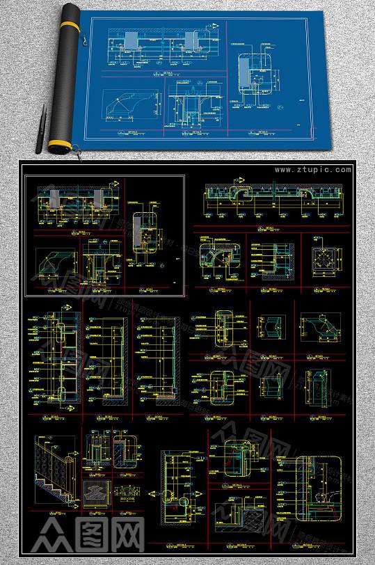 精品医院CAD平面图-众图网