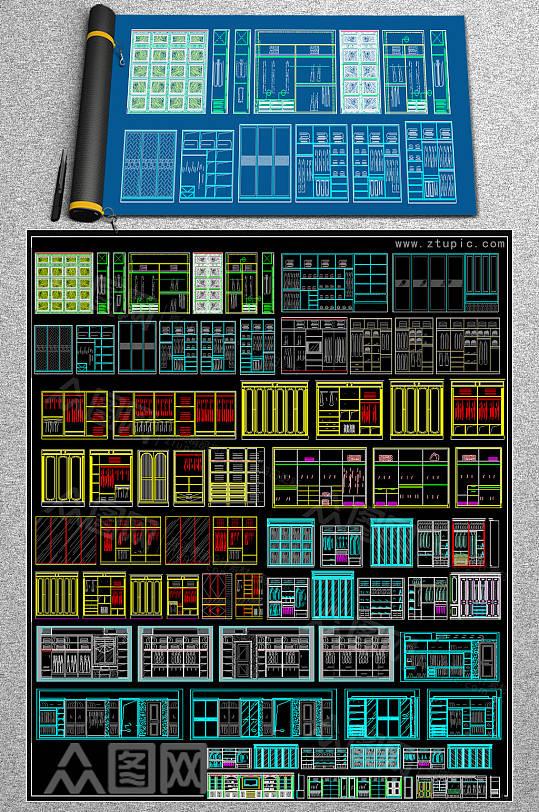 最新柜体CAD图库-众图网