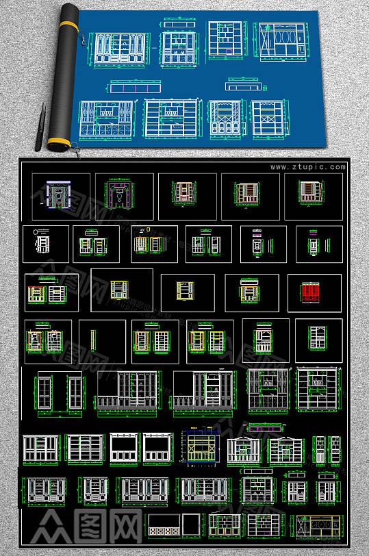 原创酒窖CAD大全-众图网