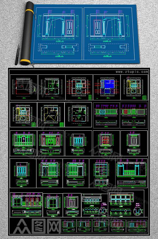 原创护板CAD素材-众图网