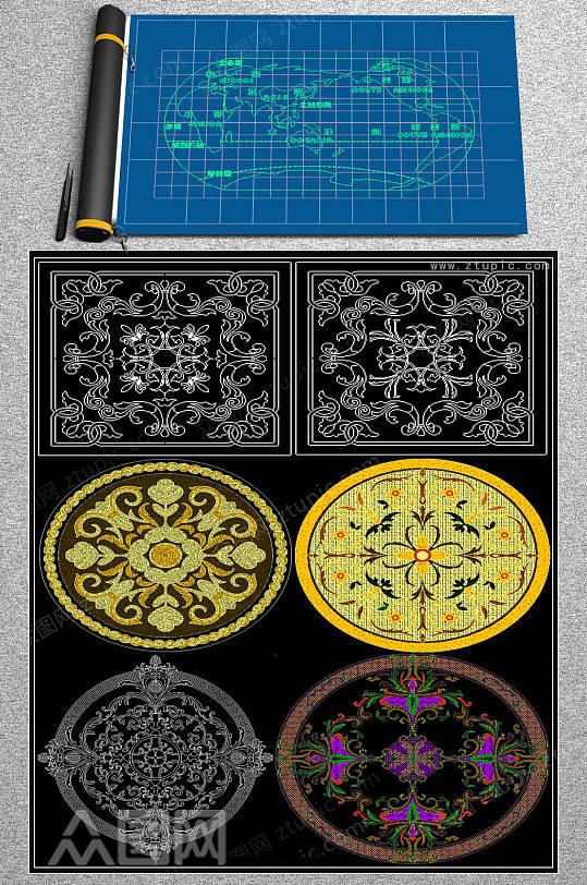水刀拼花CAD图集-众图网
