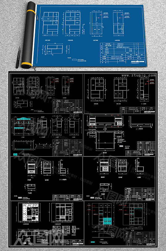 整体家装CAD施工图-众图网