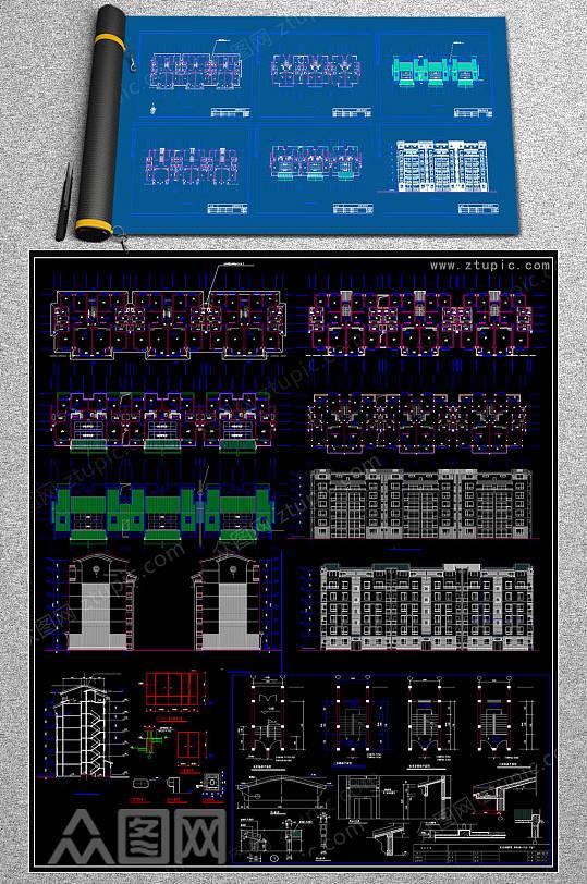 整套商贸城CAD素材-众图网