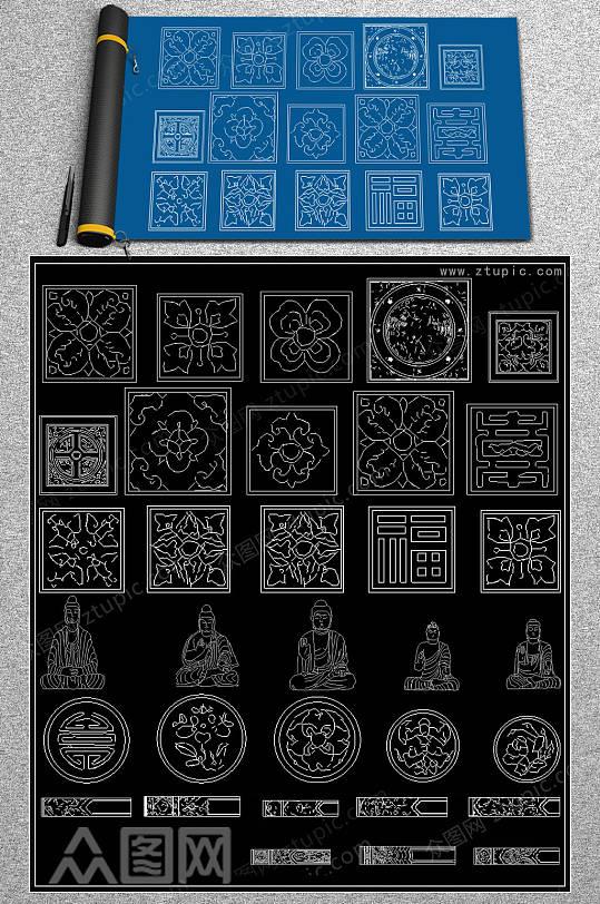 古建文饰CAD合集-众图网
