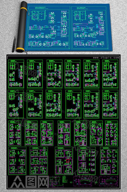 最全窗类CAD图纸-众图网