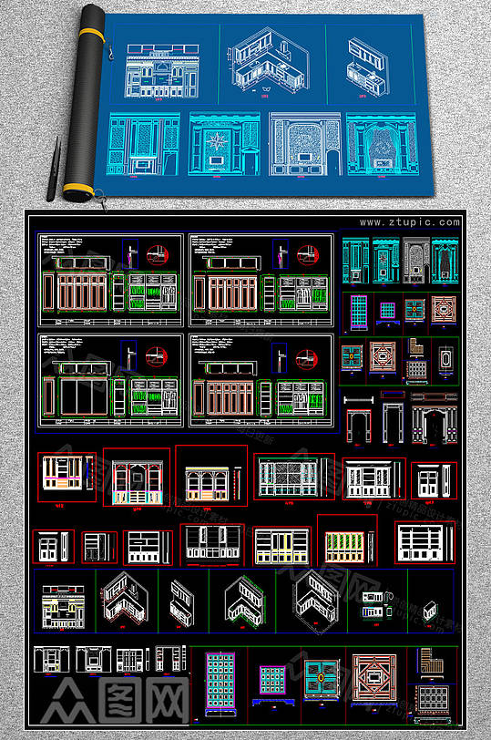 2019橱柜CAD模块-众图网