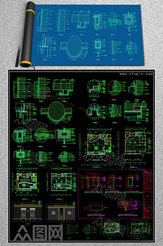 整木大堂CAD素材-众图网