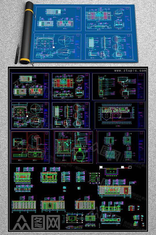 最全休息区CAD图集-众图网