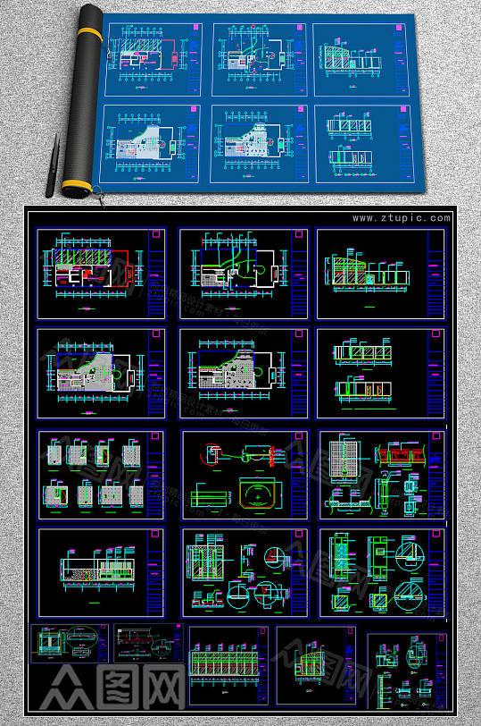 2019宾馆CAD平面图-众图网