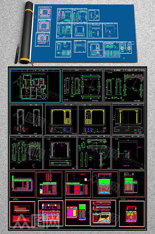 室内建筑CAD施工图-众图网