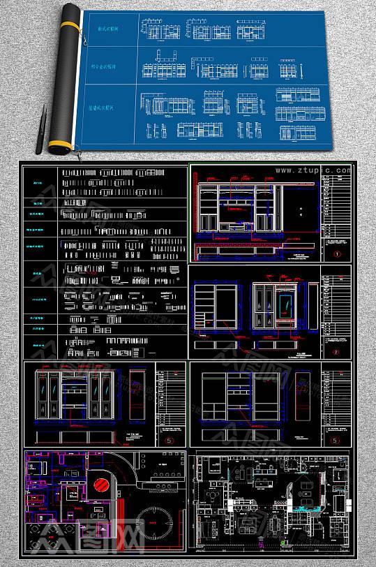 原创柜子CAD图集-众图网