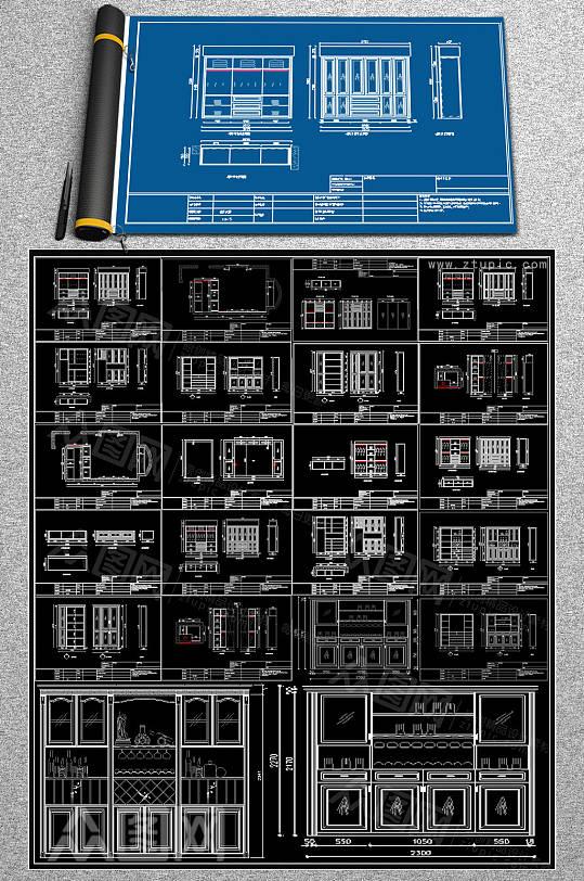 全套木柜CAD图纸-众图网