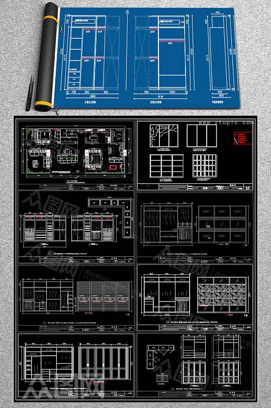 整套柜子CAD详图-众图网