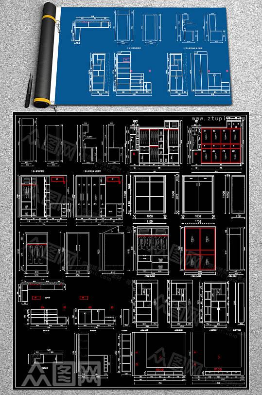 2019衣柜CAD效果图-众图网