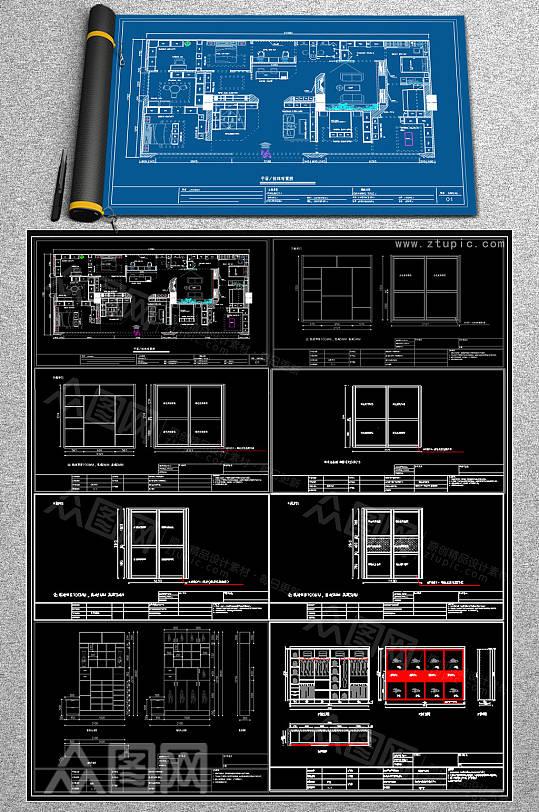 全新柜子CAD图库-众图网