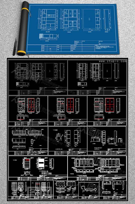 新款柜子CAD大全-众图网