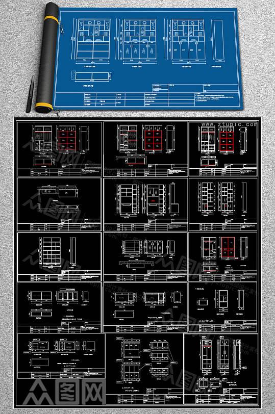 原创衣柜CAD大全-众图网