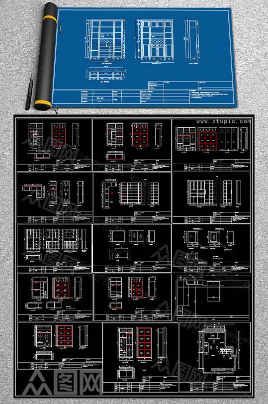 2019柜子CAD素材-众图网