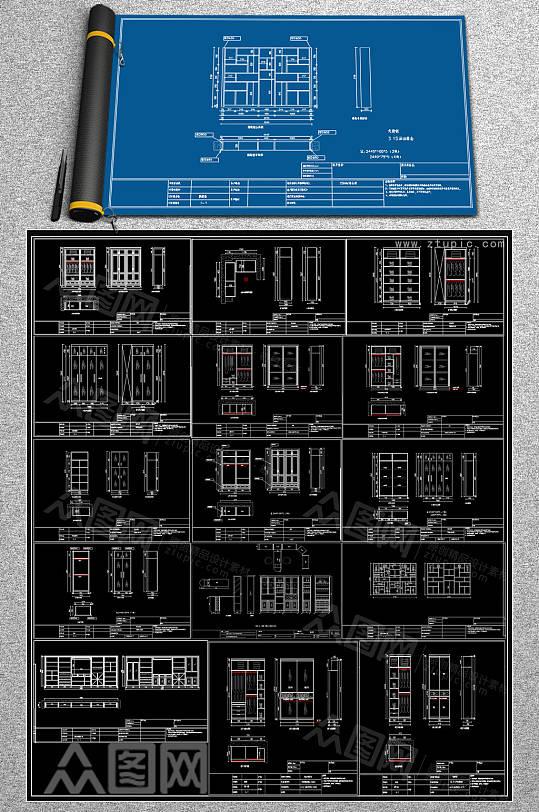 最全柜子CAD合集-众图网