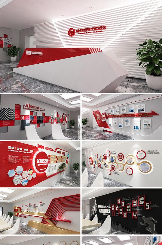企业文化墙发展历程展馆展厅-众图网