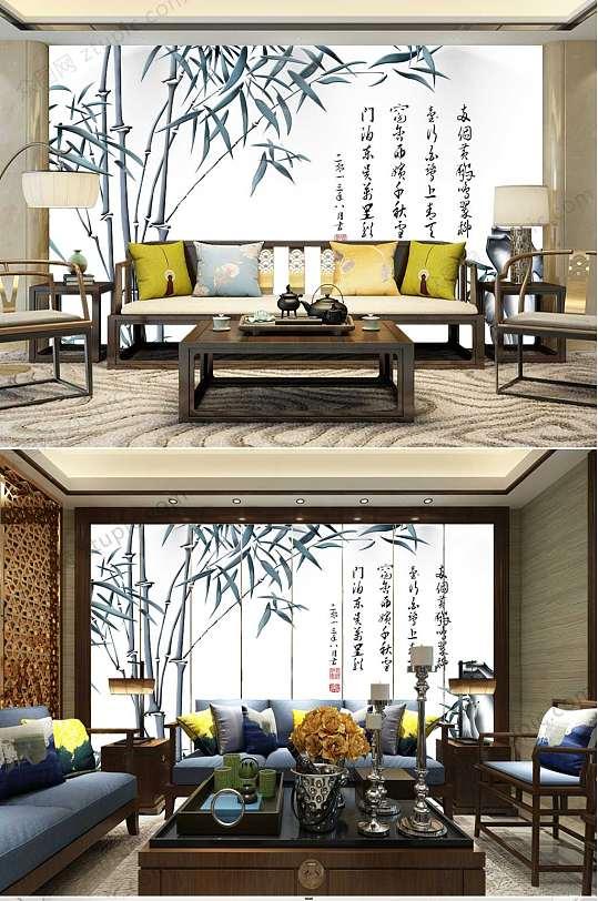 水墨山水中国风背景墙-众图网