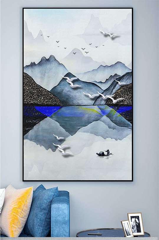 唯美意境山水装饰画-众图网