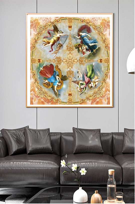 西方宗教天使装饰画-众图网
