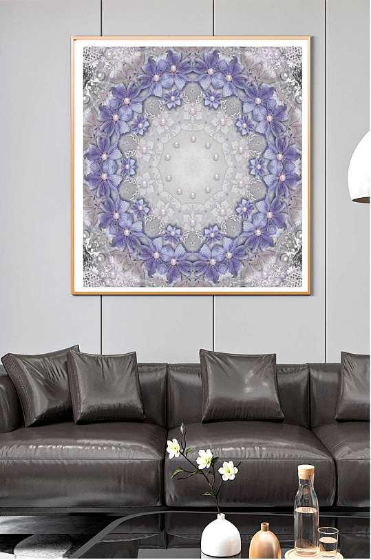 欧式华丽花纹装饰画-众图网