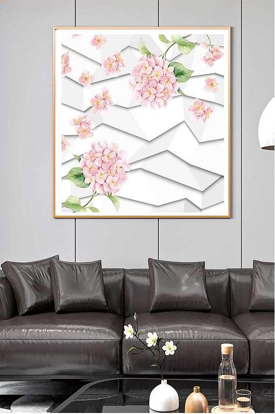 小清新花卉创意装饰画-众图网