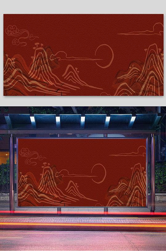 红色复古国潮-众图网