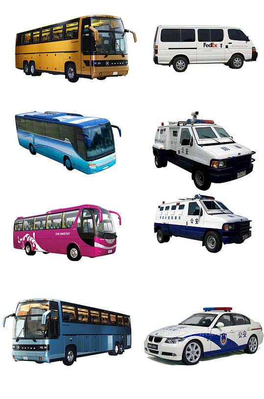 大型客车警车素材-众图网