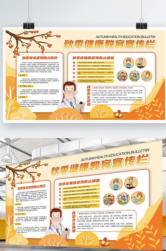 秋季养生健康教育宣传栏展板