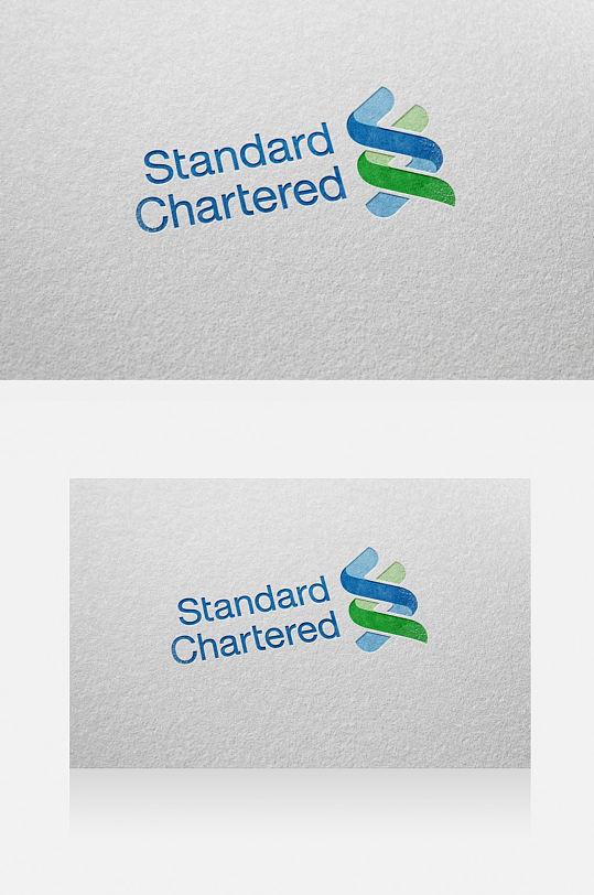 小清新蓝色logo样机-众图网
