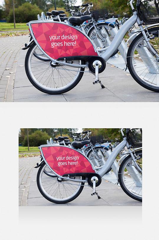 共享自行车广告样机-众图网