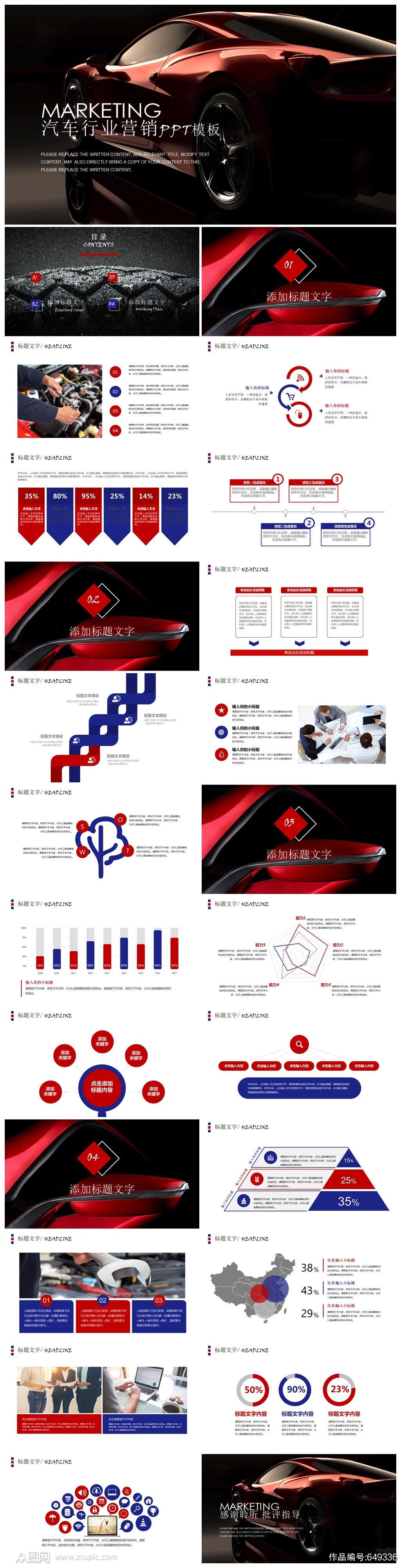 汽车行业营销PPT模板素材
