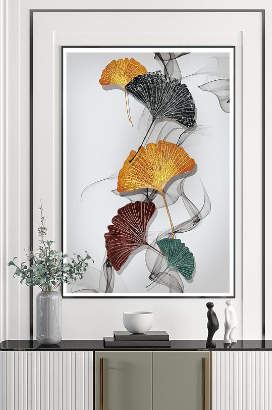 彩色杏叶艺术装饰画-众图网