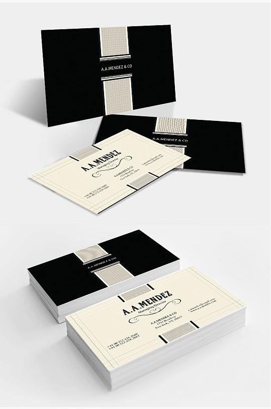 高档产品公司名片设计-众图网