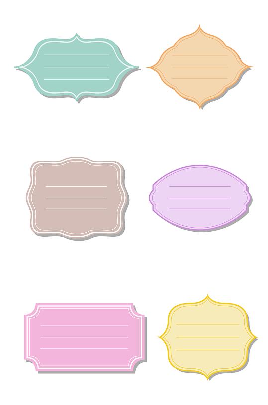 彩色纸质标签设计-众图网