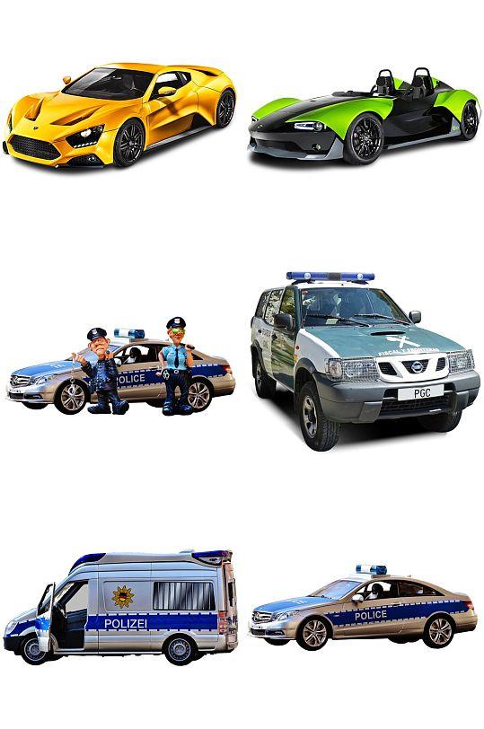 跑车越野车救护车警车免抠素材设计-众图网