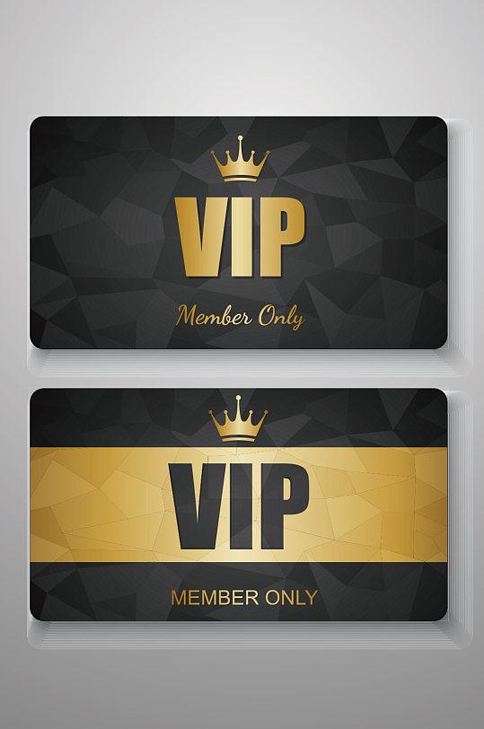 经典几何图形黑金VIP会员卡-众图网