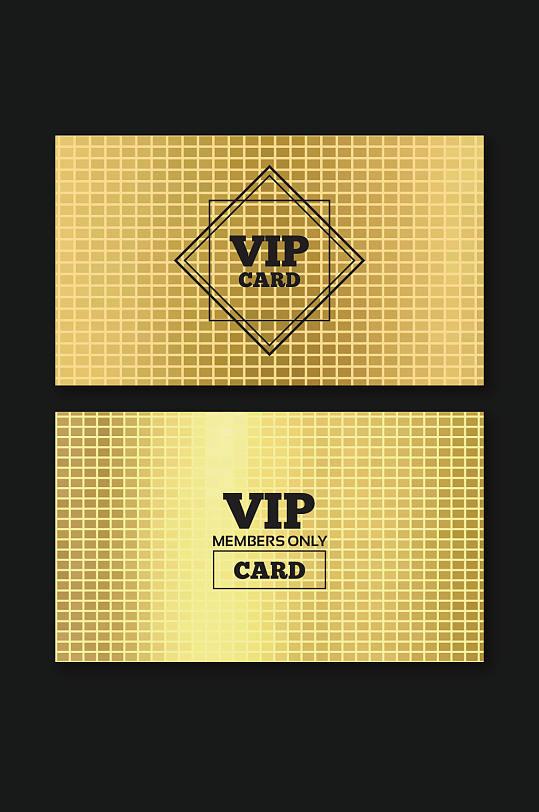金色奢华VIP贵宾卡模板设计-众图网
