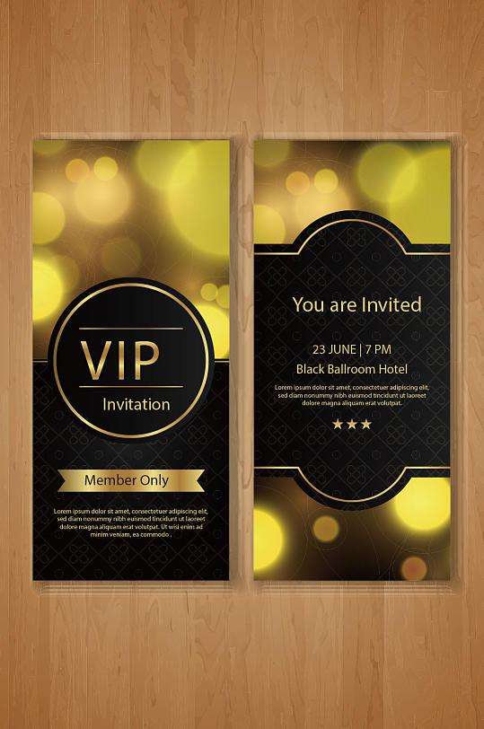 极品黑金酒店VIP会员卡模板设计-众图网