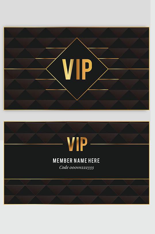 精品黑金酒店VIP贵宾卡模板设计-众图网